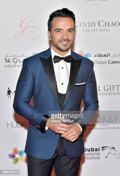 Luis Fonsi attends the Global Gift Gala on day three of the 14th annual Dubai International Film Festival held at the Versace Hotel on December 8...