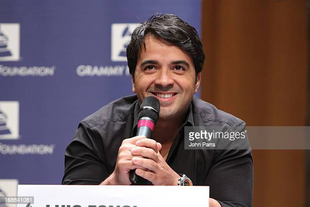 Luis Fonsi attends the GRAMMY Camp Basic Training at Frost School of Music at University of Miami Gusman Concert Hall on May 15 2013 in Coral Gables...