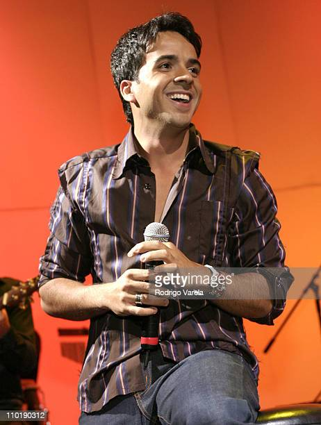 Luis Fonsi during 2004 Billboard Latin Music Bash Concert at Barton G in Miami Beach Florida United States