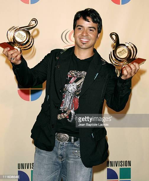 Luis Fonsi during 2006 Premio Lo Nuestro - Press Room at American Airlines Arena in Miami, United States.