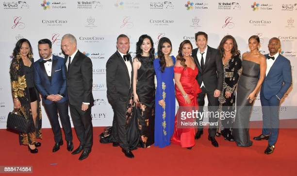 Luis Fonsi guests Coco Maria Bravo Adrien Brody Vanessa Williams Alesha Dixon and Azuka Ononye attend the Global Gift Gala on day three of the 14th...