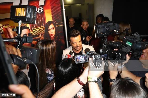 Luis Fonsi is interviewed backstage at Miami Bash 2018 at American Airlines Arena on April 14 2018 in Miami Florida
