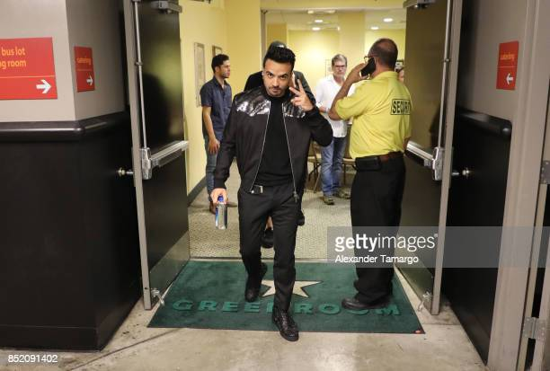 Luis Fonsi is seen backstage prior to the Love and Dance Tour at Hard Rock Live at Seminole Hard Rock Hotel and Casino on September 22 2017 in...