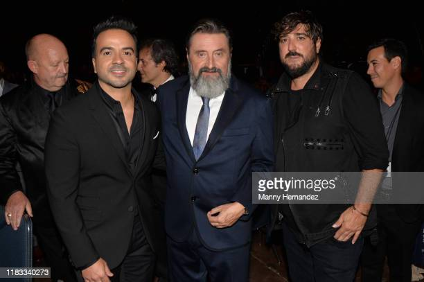 Luis Fonsi Jesus López Antonio Orozco at the Latin Songwriters Hall of Fame 2019 La Musa Awards at the James L Knight Center in Miami FL on October...