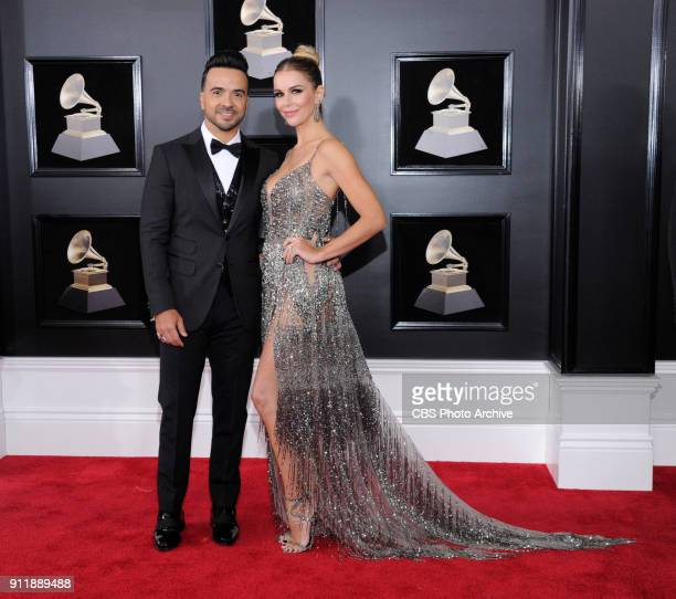 Luis Fonsi on the red carpet at THE 60TH ANNUAL GRAMMY AWARDS broadcast live on both coasts from New York City's Madison Square Garden on Sunday Jan...