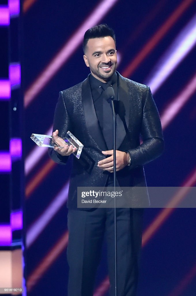 Luis Fonsi onstage at the 2018 Billboard Latin Music Awards at the Mandalay Bay Events Center on April 26, 2018 in Las Vegas, Nevada.