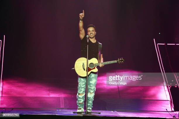 Luis Fonsi performs as part of Love Dance World Tour at Coliseo Jose M Agrelot on June 1 2018 in San Juan Puerto Rico