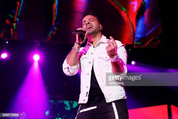 Luis Fonsi performs at Miami Bash 2018 at American Airlines Arena on April 14 2018 in Miami Florida