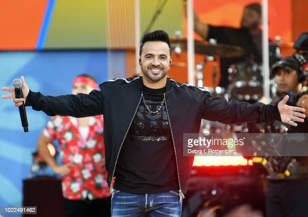 Luis Fonsi performs on ABC's Good Morning America Summer Concert Series at Rumsey Playfield Central Park on August 24 2018 in New York City