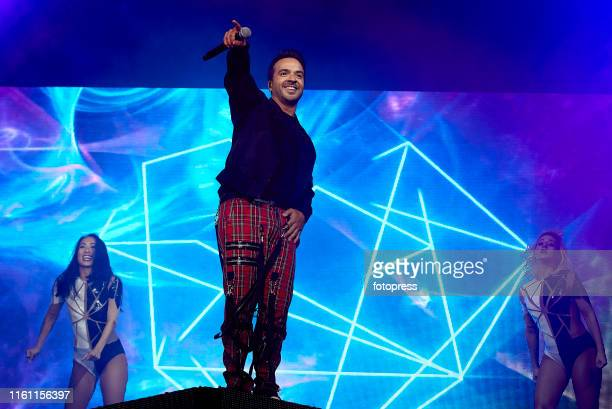 Luis Fonsi performs on stage at Jardines de Viveros on July 09 2019 in Valencia Spain