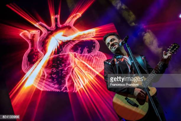 Luis Fonsi performs on stage during Lucca Summer Festival 2017 on July 28 2017 in Lucca Italy