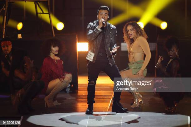 Luis Fonsi performs on stage during the Echo Award show at Messe Berlin on April 12 2018 in Berlin Germany