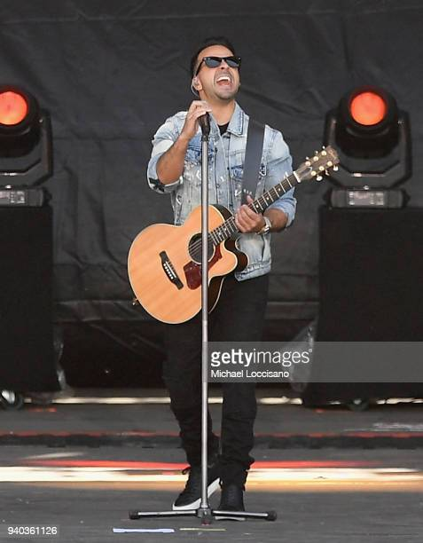 Luis Fonsi performs onstage during CocaCola Music at the NCAA March Madness Music Festival at Hemisfair on March 31 2018 in San Antonio Texas
