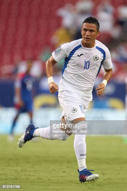 Luis Galeano of Nicaragua in action during the 2017 CONCACAF Gold Cup Group B match between Panama and Nicaragua at Raymond James Stadium on July 12...