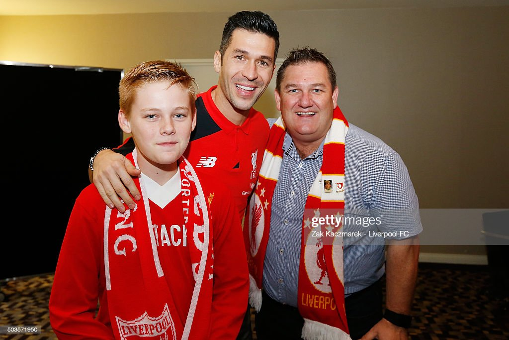 Luis Garcia meets fans at a Liverpool Supporters event on January 6, 2016 in Sydney, Australia.