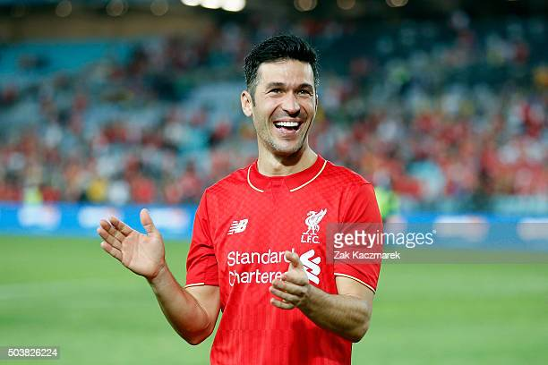 Luis Garcia of Liverpool FC Legends celebrates after the match between Liverpool FC Legends and the Australian Legends at ANZ Stadium on January 7...