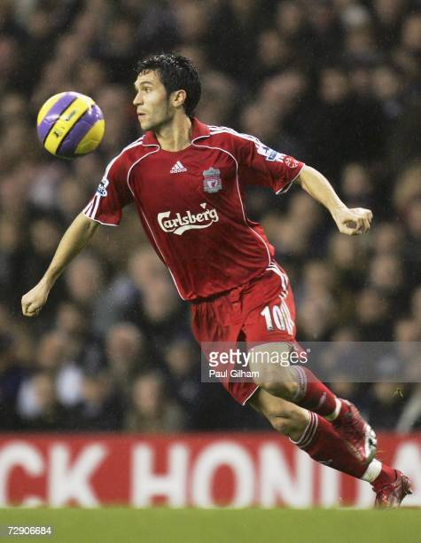 Luis Garcia of Liverpool runs with the ball during the Barclays Premiership match between Tottenham Hotspur and Liverpool at White Hart Lane on...