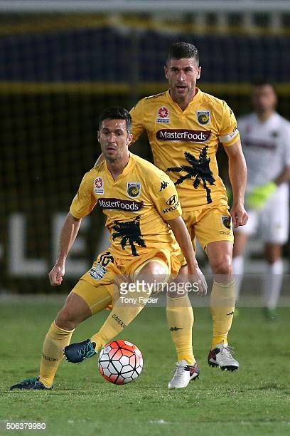 Luis Garcia of the Mariners controls the ball during the round 16 ALeague match between the Central Coast Mariners and the Western Sydney Wanderers...