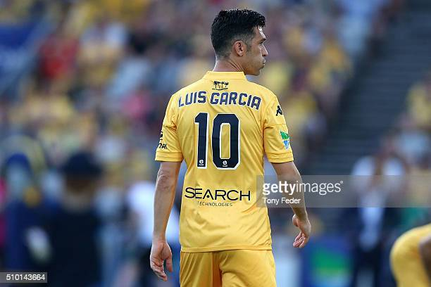 Luis Garcia of the Mariners during the round 19 ALeague match between the Central Coast Mariners and Adelaide United at Central Coast Stadium on...