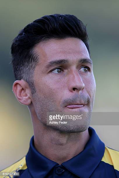 Luis Garcia of the Mariners looks on during the round 19 ALeague match between the Central Coast Mariners and Adelaide United at Central Coast...