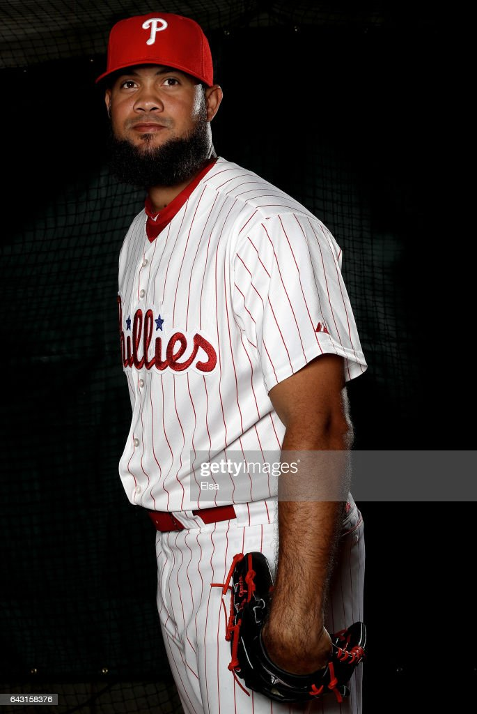 Luis Garcia #57 of the Philadelphia Phillies poses for a portrait during the Philadelphia Phillies photo day on February 20, 2017 at Spectrum Field in Clearwater, Florida.
