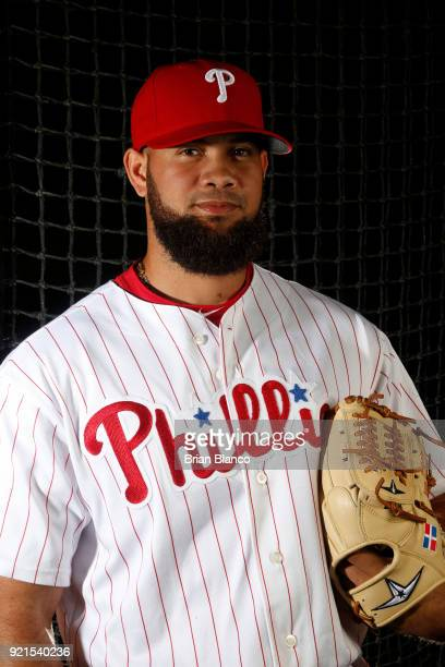 Luis Garcia of the Philadelphia Phillies poses for a portrait on February 20 2018 at Spectrum Field in Clearwater Florida