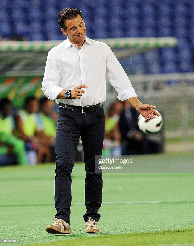 Luis Garcia Plaza head coach of Getafe during the pre-season friendly match between SS Lazio and Getafe CF at Olimpico Stadium on August 11, 2012 in Rome, Italy.