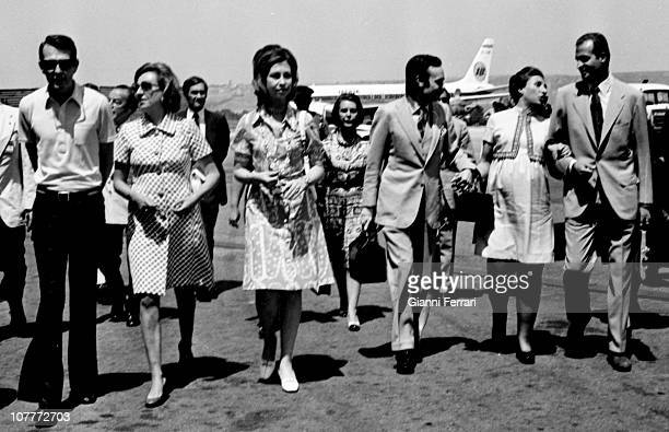 Luis Gomez Acebo his wife Pilar of Borbon sister of Prince Juan Carlos of Borbon Princess Sofia of Greece Carlos Zurita and his wife Margarita of...