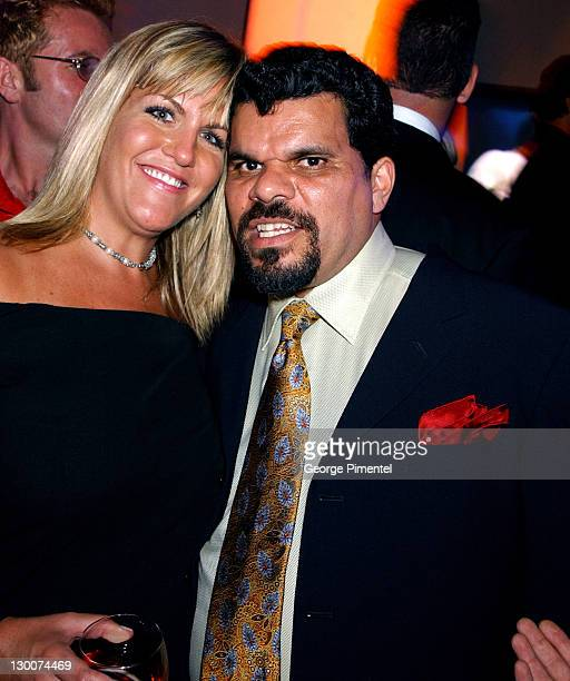 Luis Guzman and guest during 55th Annual Primetime Emmy Awards TV Guide 2003 Emmy Party at The Lot Studios in Hollywood California United States