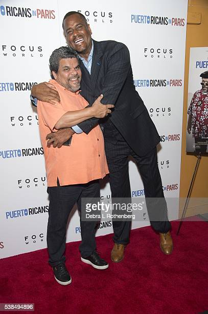 Luis Guzman and Jayson Wiliams attend the New York Screening of 'Puerto Ricans In Paris' at Landmark's Sunshine Cinema on June 6 2016 in New York City