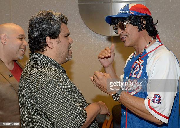 Luis Guzman and Johnny Lozada is on the set of Univision's Despierta America at Univision Studios on May 24 2016 in Miami Florida