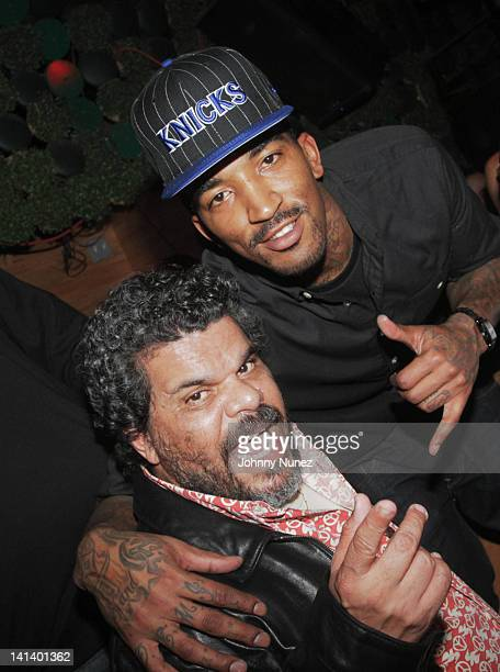 Luis Guzman and JR Smith attend JR Smith's Welcome to the Knicks party at Greenhouse on March 15 2012 in New York City