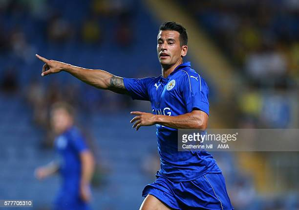 Luis Hernandez of Leicester City during the PreSeason Friendly match between Oxford United and Leicester City at Kassam Stadium on July 19 2016 in...