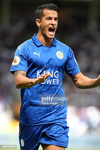 Luis Hernandez of Leicester City in action at KCOM Stadium during the Premier League match between Leicester City and Hull City at KC Stadium on...