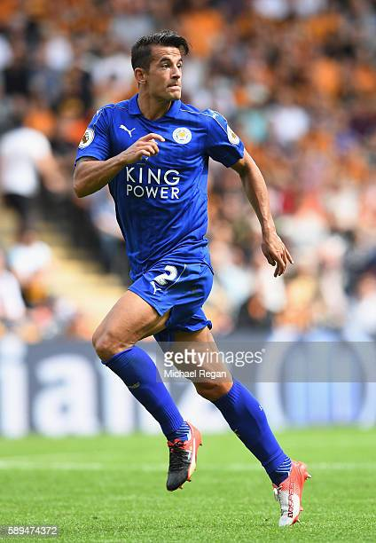 Luis Hernandez of Leicester City in action during the Premier League match between Hull City and Leicester City at KCOM Stadium on August 13 2016 in...