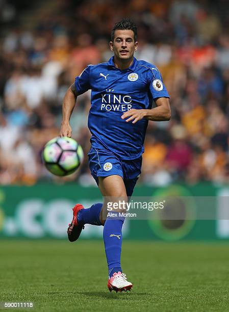 Luis Hernandez of Leicester during the Premier League match between Hull City and Leicester City at KC Stadium on August 13 2016 in Hull England