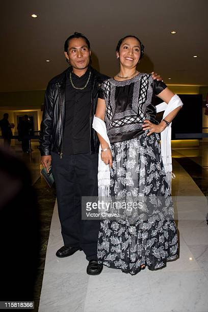 Luis Juarez and Mayra Serbulo during 'Apocalypto' Mexico City Premiere Photocall at Cinemex Plaza Antara in Mexico Mexico City Mexico