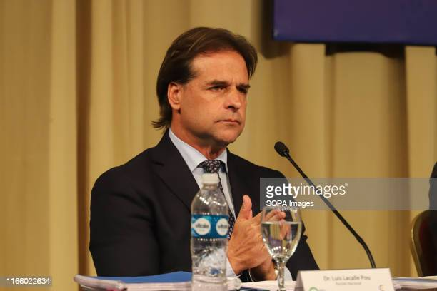Luis Lacalle Pou candidate for National Party seen during the dialogue with the candidates at the Expo Prado 2019 The presidential candidates have...