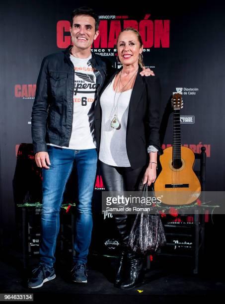 Luis Larrodera and Miriam Diaz Aroca attend 'Camaron Flamenco Y Revolucion' Madrid Premiere on May 31 2018 in Madrid Spain