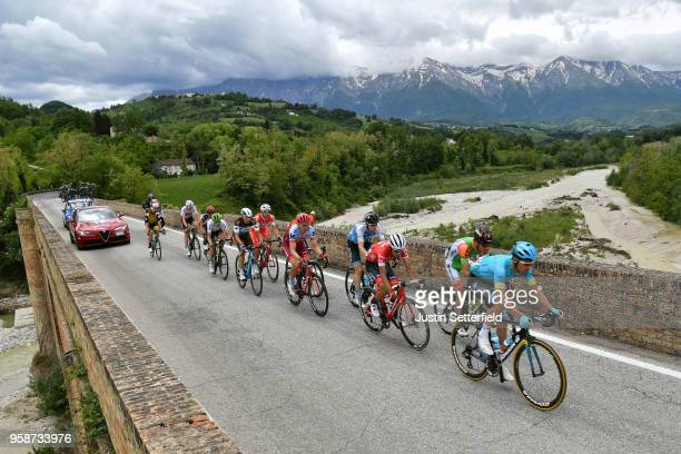 Luis Leon Sanchez of Spain and Astana Pro Team / Giulio Ciccone of Italy and Team Bardiani CSF / Jarlinson Pantano of Colombia and Team TrekSegafredo...