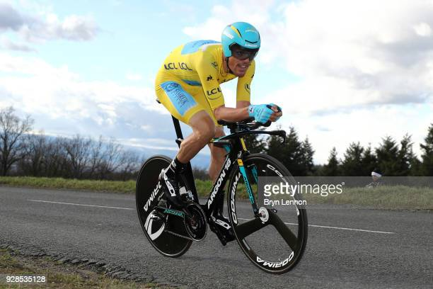 Luis Leon Sanchez of Spain and Astana Pro Team Yellow Jersey Leader during the 76th Paris - Nice 2018 / Stage 4 an Individual Time Trial of 18,4km...