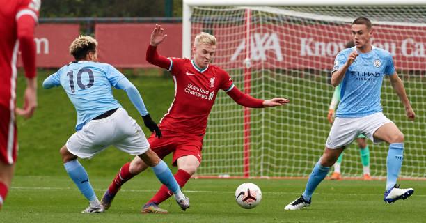 GBR: Liverpool U23 v Manchester City U23: Premier League 2