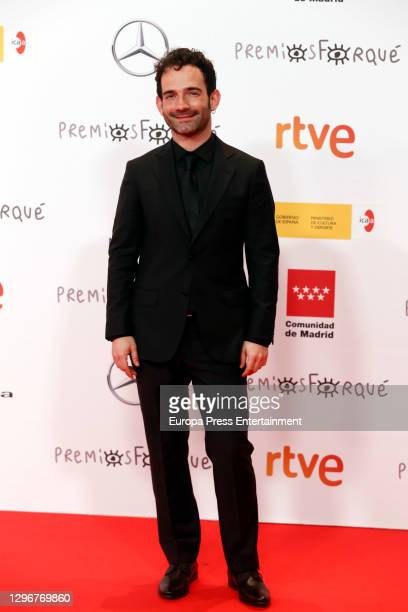 Luis Lopez attends 'Jose Maria Forque Awards' 2021 red carpet at IFEMA on January 16, 2021 in Madrid, Spain.