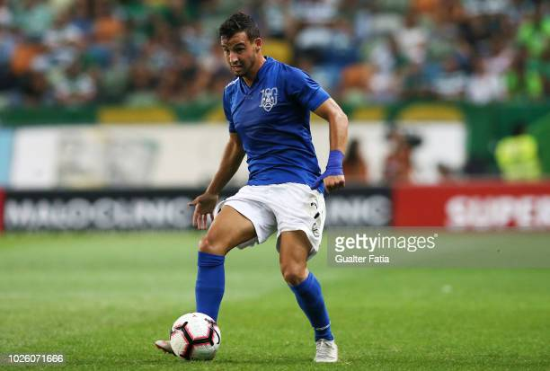 Luis Machado of CD Feirense in action during the Liga NOS match between Sporting CP and CD Feirense at Estadio Jose Alvalade on September 1 2018 in...