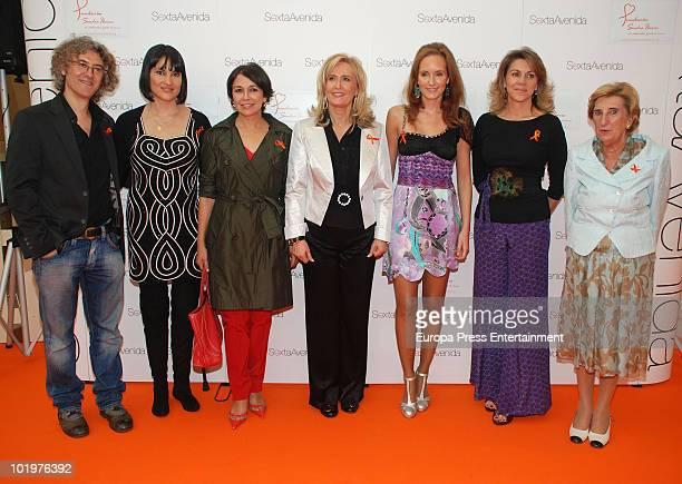 Luis Malibran, Irene Villa, Isabel Gemio, Nieves Herrero, Sandra Ybarra, Maria Dolores de Cospedal and Gotzone Mora attend the opening of the...
