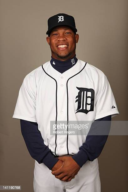 Luis Marte of the Detroit Tigers poses during Photo Day on Tuesday February 28 2012 at Joker Marchant Stadium in Lakeland Florida