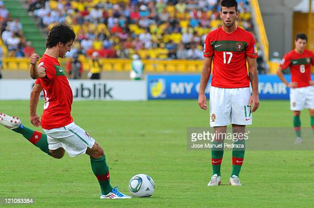 Luis Martins from Portugal shoots for goal during the match between Argentina and Portugal as part of the Quarter Finals of the FIFA U20 World Cup...