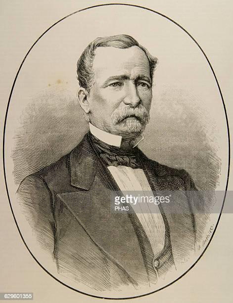 Luis Mayans y Enriquez de Navarra Spanish noble and politician Engraving by Arturo Carretero La Ilustracion Espanola y Americana 1880