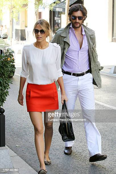 Luis Medina and Laura Vecino are seen on October 13 2011 in Madrid Spain