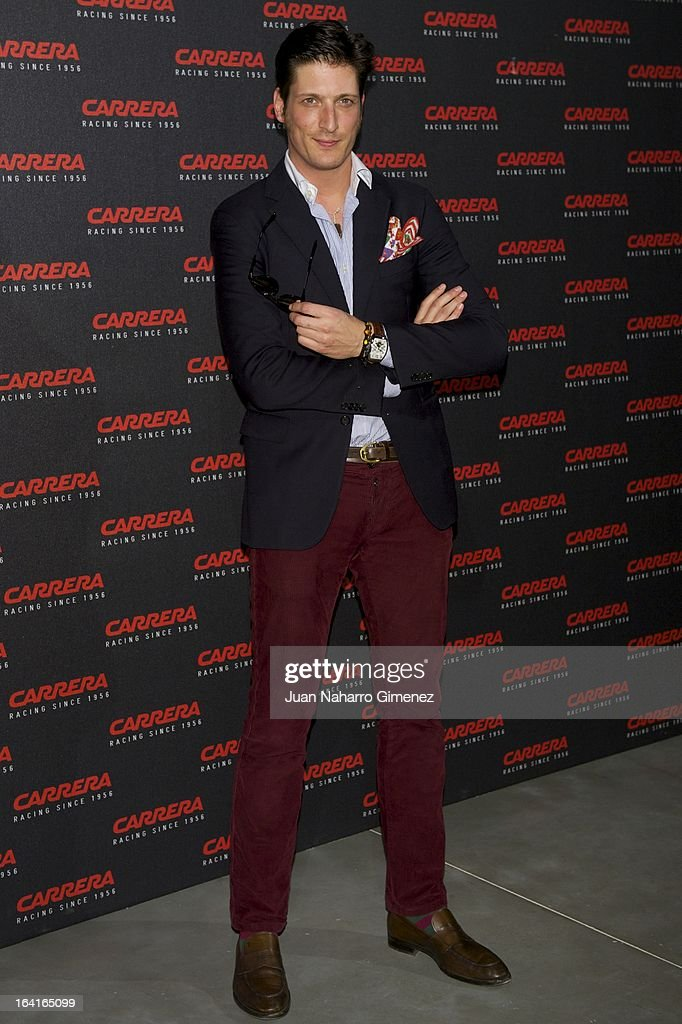 Luis Medina attends 'Carrera Ignition Night' party at Matadero on March 20, 2013 in Madrid, Spain.
